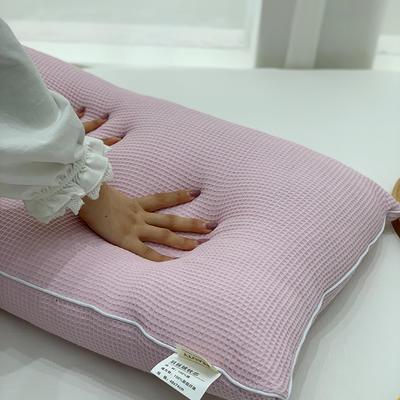2021新款全棉羽丝绒枕芯47*74cm/对 粉色