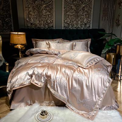 2021新款全棉贡缎大提花四件套 1.8m床单款四件套 香格里拉(香槟)
