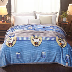 加厚云貂绒毛毯 120X200CM 可爱小猴