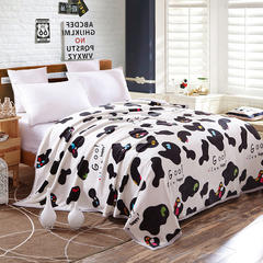 加厚云貂绒毛毯 120X200CM 奶牛