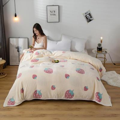2020新款雪花绒毛毯 150cmx200cm 草莓