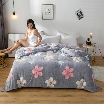 2020新款雪花绒毛毯 150cmx200cm 花朵