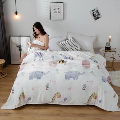 2020新款雪花绒毛毯 150cmx200cm 欢乐