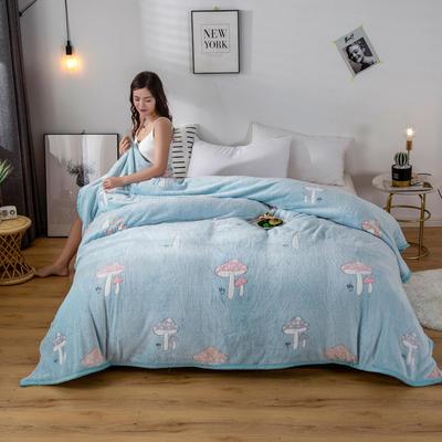 2020新款雪花绒毛毯 150cmx200cm 蘑菇