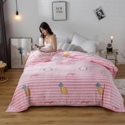 2020新款雪花绒毛毯 150cmx200cm 水果