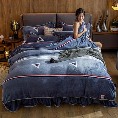 2019新款金貂绒牛奶绒四件套 1.2m(4英尺)床单款三件套 简约生活