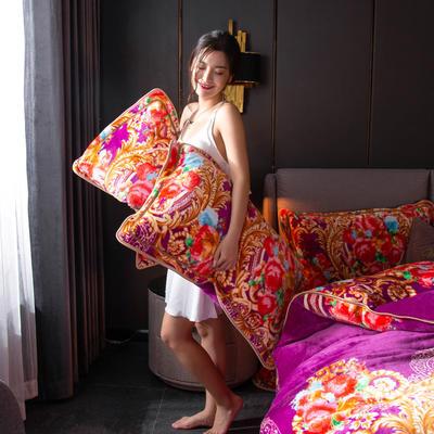 2019新款金貂绒牛奶绒单品枕套 48cmX74cm/对 波西米亚