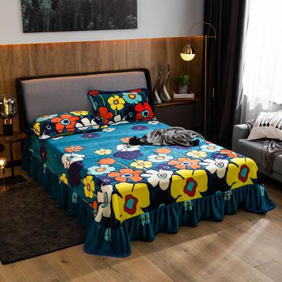 2019新款金貂绒牛奶绒单品床单 单床单:180cmx230cm 春天气息