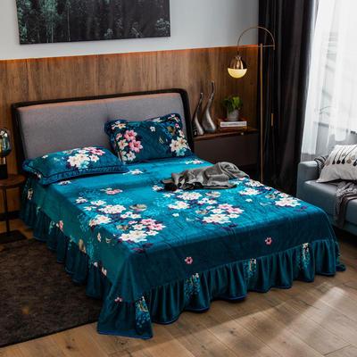 2019新款金貂绒牛奶绒单品床单 单床单:180cmx230cm 芬芳花语