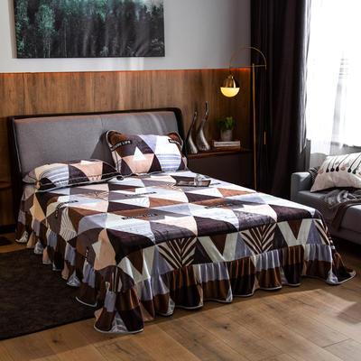 2019新款金貂绒牛奶绒单品床单 单床单:180cmx230cm 几何情调