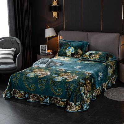 2019新款金貂绒牛奶绒单品床单 单床单:180cmx230cm 绿野仙踪