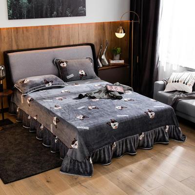 2019新款金貂绒牛奶绒单品床单 单床单:180cmx230cm 萌宠