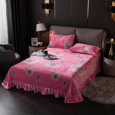 2019新款金貂绒牛奶绒单品床单 单床单:180cmx230cm 柔情蜜意