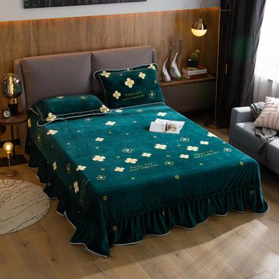 2019新款金貂绒牛奶绒单品床单 单床单:180cmx230cm 四叶草