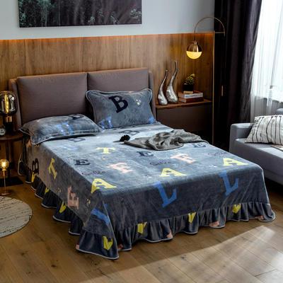2019新款金貂绒牛奶绒单品床单 单床单:180cmx230cm 小时光