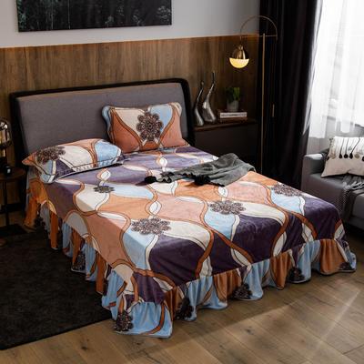 2019新款金貂绒牛奶绒单品床单 单床单:180cmx230cm 旋律