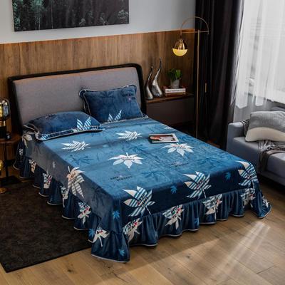 2019新款金貂绒牛奶绒单品床单 单床单:180cmx230cm 叶之韵