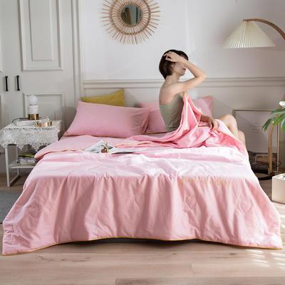 2020新款全棉夏被四件套 枕套一对 粉色