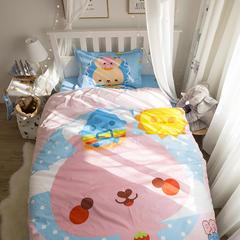 全棉三件套(二) 直角款1.2m(4英尺)床 嘟嘟小兔