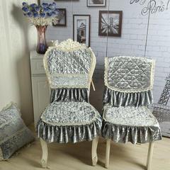 戴安娜餐椅垫 欧式椅垫 巴黎别恋-灰色