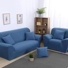 沙发套(纯色款) 三人座:适用190CM-230CM 蓝色
