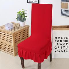 纯色椅子套(韩版花边款) 大红38CM*45CM
