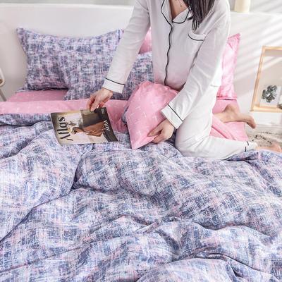 2019新款全棉活性印花四件套 1.2m床单款三件套 西西里