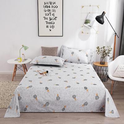 2019新品全棉印花單品床單 120cmx230cm 菠蘿蜜
