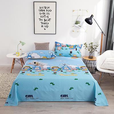 2019新品全棉印花單品床單 120cmx230cm 歡樂童年