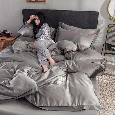2020新款-魅惑系列水洗真丝四件套 床单款四件套1.5m(5英尺)床 魅惑灰