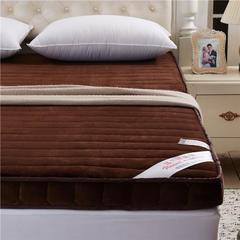 法兰绒立体床垫(一) 1.2*2米 咖啡色法兰绒