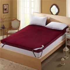 加厚单边10厘米4d和法兰绒新款(法莱绒)二 1.5*2米 法兰绒红