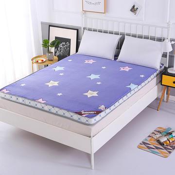 5d魔法绒新款床垫 0.9米 时尚小星蓝