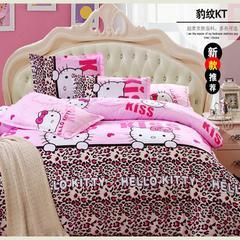 磨毛钻石绒四件套 1.0m(3.3英尺)床(三件套) kt猫