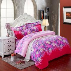 磨毛钻石绒四件套 1.0m(3.3英尺)床(三件套) 爱丽丝红