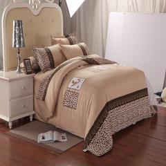 磨毛钻石绒四件套 1.0m(3.3英尺)床(三件套) 皇家豹纹