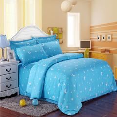磨毛钻石绒四件套 1.0m(3.3英尺)床(三件套) 星月蓝