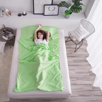 富瑞阁   2019新品隔脏旅行睡袋(80*215cm ) 纯色系列翠绿
