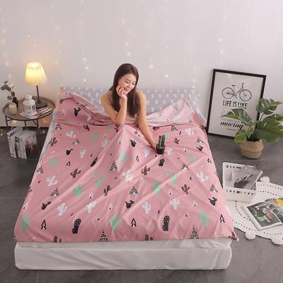 富瑞阁     2020新品隔脏旅行睡袋(120*215cm) 印花系列仙人掌