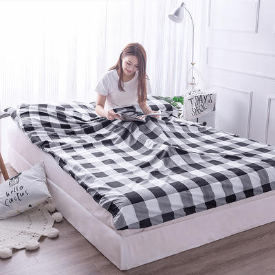 富瑞阁    2019新品隔脏旅行睡袋(180*215cm) 格子系列黑白格