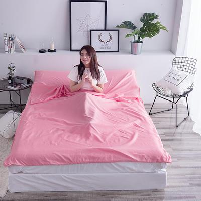 富瑞阁  2019新品   隔脏旅行睡袋(200*215cm) 纯色系列粉色
