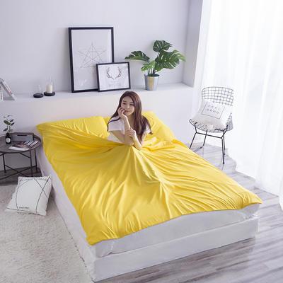 富瑞阁  2019新品   隔脏旅行睡袋(200*215cm) 纯色系列黄色