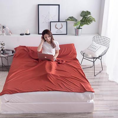 富瑞阁  2019新品   隔脏旅行睡袋(200*215cm) 纯色系列酒红