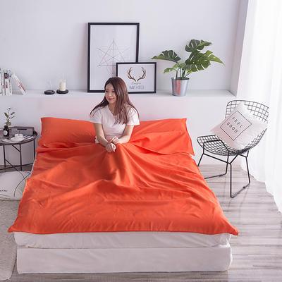 富瑞阁  2019新品   隔脏旅行睡袋(200*215cm) 纯色系列橘色