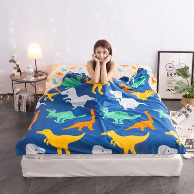 富瑞阁  2019新品   隔脏旅行睡袋(200*215cm) 印花系列恐龙宝贝