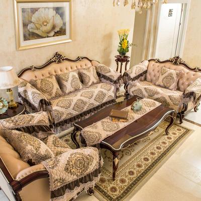 富瑞阁   2019新品沙发垫流金岁月 扶手巾50*60cm 米白色