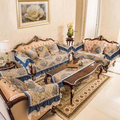 富瑞阁   2019新品沙发垫水木年华 深蓝 扶手巾50*60cm 水木年华 深蓝