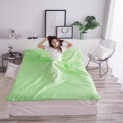 富瑞阁  2019新品   隔脏旅行睡袋(200*215cm) 纯色系列翠绿