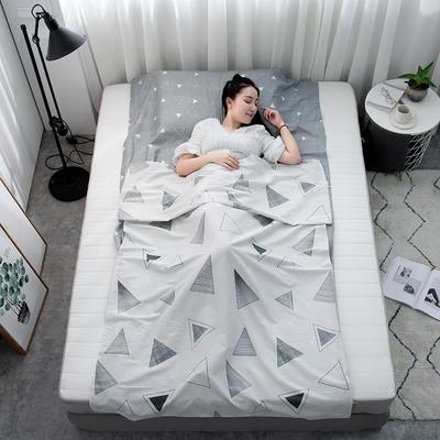 2019新款128*68纯棉隔脏旅行睡袋 几何玩味80*215cm