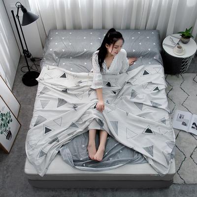 2019新款128*68纯棉隔脏旅行睡袋 几何玩味120*215cm